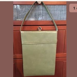 ->4for$25 Vtg green purse w/ Studded Detail